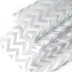 Упаковочная пленка матовая (0,6*10,3 м) Зигзаг, Серебро, 1 рулон.