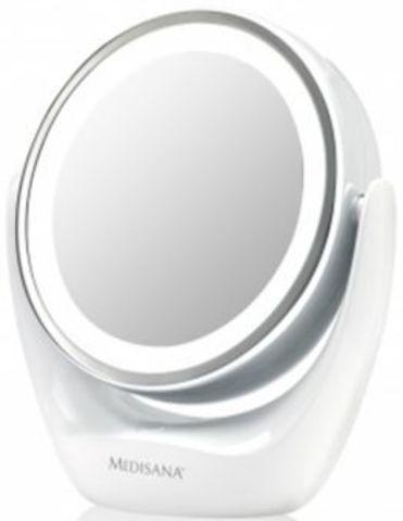 Зеркало двустороннее Medisana CM 835 d=12см белый