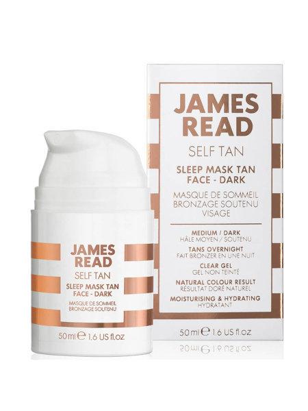 Маска ночная для лица уход и загар James Read Self Tan Sleep Mask Tan Face- Dark 50 мл