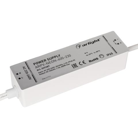 Блок питания ARPV-NEON-400-230 (230V, 1.7A, 400W) (ARL, Закрытый)