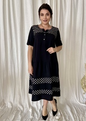 Любава. Романтична комбінована сукня великих розмірів. Чорний