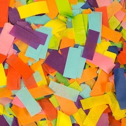 Мультиколор конфетти (бумажное, тишью)