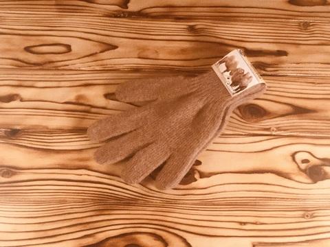 Перчатки из верблюжьей шерсти (коричневый цвет) фото4