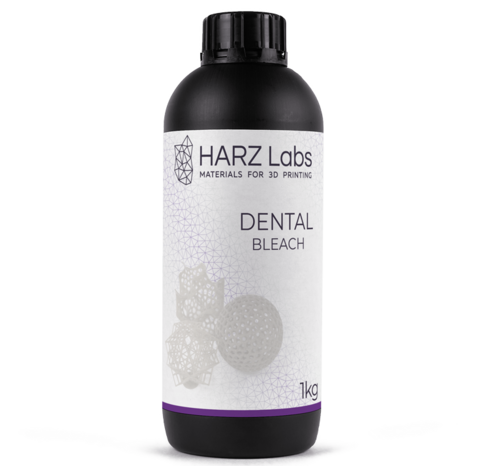 Фотополимер HARZ Labs Dental Bleach, бесцветный (1000 гр)