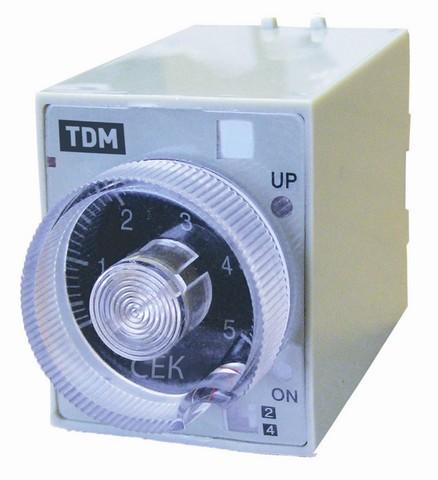 Реле времени РВ2D-10сек/60мин-5A-220В-8Ц TDM
