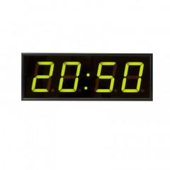Часы электронные 410-EURO-G, цвет свечения зеленый 0,3Кд, 440x160x75мм