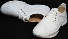 Летние спортивные туфли женские Derem 18-104-04 All White