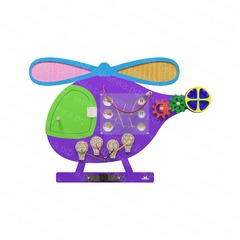 Бизиборд «Вертолет»
