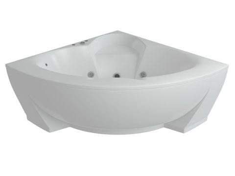 Ванна акриловая угловая Aquatek Поларис 2 155х155см. нак каркасе и сливом-переливом