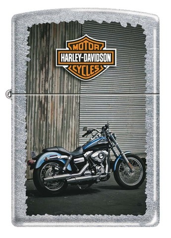 Зажигалка Zippo Harley-Davidson, латунь с покрытием Street Chrome, серебристая, 36x12x56 мм