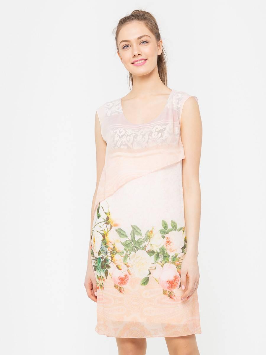 Платье З112-301 - Летнее, воздушное платье с отлетной деталью в районе груди асимметричной длинны. Платье будет прекрасно смотреться как на отдыхе. так и на праздничных мероприятиях.