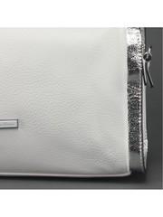 Белая классическая сумка из эко кожи
