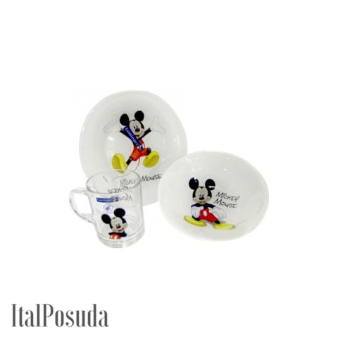 Набор детской посуды Luminarc Disney Mickey Colors (Дисней Микки Колорс), 3 предмета L2124