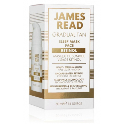 Ночная маска для лица уход и загар с ретинолом JAMES READ SLEEP MASK RETINOL 50 ML