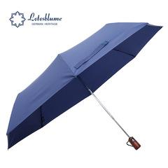 Мужской семейный премиальный зонт, с защитой от УФ, 8 спиц, деревянная ручка (синий)