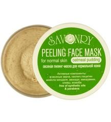 (Срок годности до 10.12.2020) Пилинг-маска для лица Овсяный пудинг (для нормального типа кожи), 150g TM Savonry