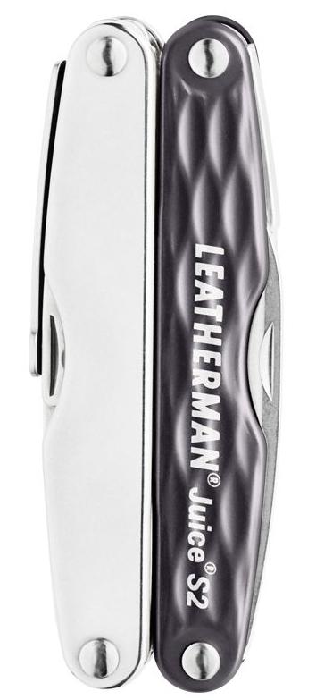 Мультитул Leatherman Juice S2, 12 функций, серый гранит (подарочная упаковка)