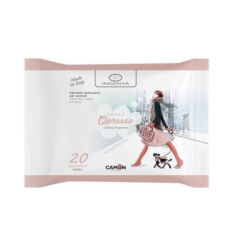 Camon Ingenya Влажные салфетки для животных с ароматом кипариса