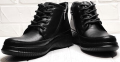 Высокие кеды ботинки демисезонные женские Evromoda 535-2010 S.A. Black.