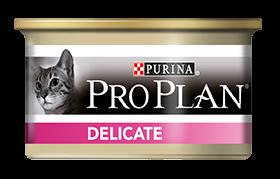 Влажные корма Консервы Purina Pro Plan Delicate, для кошек с чувствительным пищеварением, с индейкой 95e875a2e075a1a4a6e1b9770f.png
