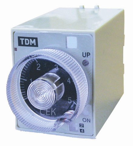 Реле времени РВ3A-0,5сек/3мин-5A-24/220В-8Ц TDM