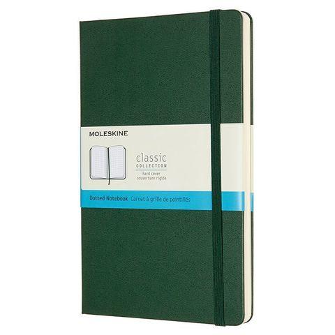 Блокнот Moleskine CLASSIC QP066K15 130х210мм 240стр. пунктир твердая обложка зеленый