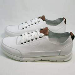 Стильные кроссовки сникерсы мужские Faber 193909-3 White.