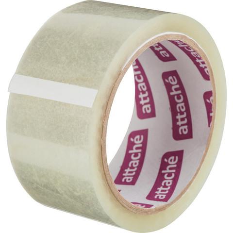 Скотч клейкая лента упаковочная Attache прозрачная 48 мм x 60 м толщина 40 мкм