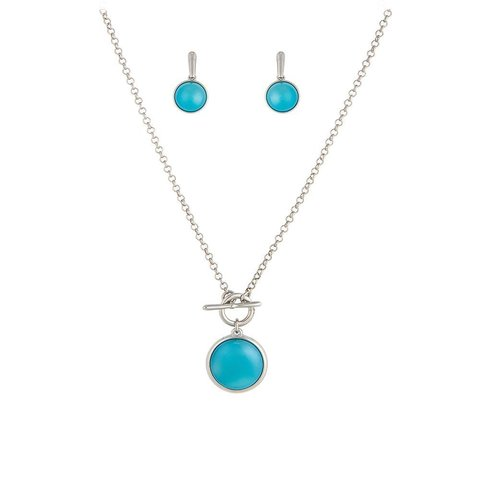 Комплект pearl blue sky agate S1560.21 B/S