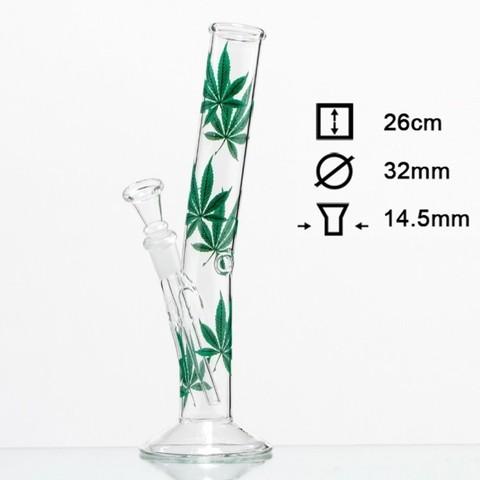 Бонг стеклянный HANGOVER в зелень