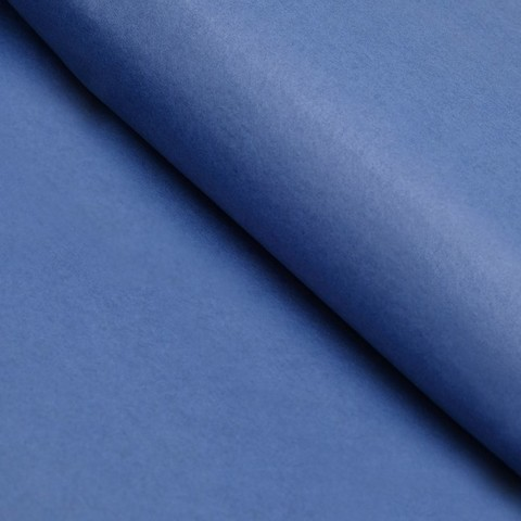 Бумага упаковочная тишью, синий, 50 х 66 см