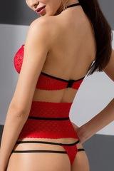Ажурный красный комплект эротического белья Akita