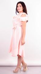 Веста. Красива сукня плюс сайз. Персик.