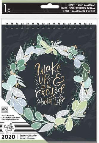 Блокнот-календарь 2020 на спирали - Happy Planner Dated Spiral Desk Calendar - Homebody - 15,5х20см