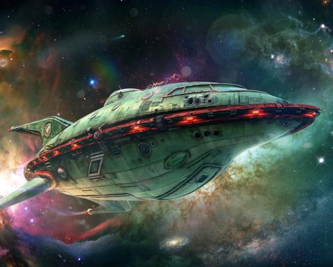 Картина по номерам на холсте Planet Express Ship. Futurama, 40см*50см