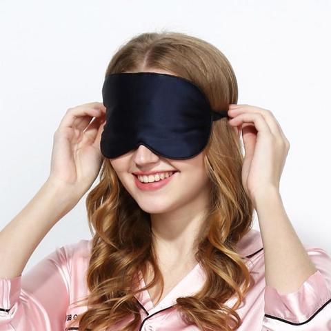 Шелковая маска для сна черная