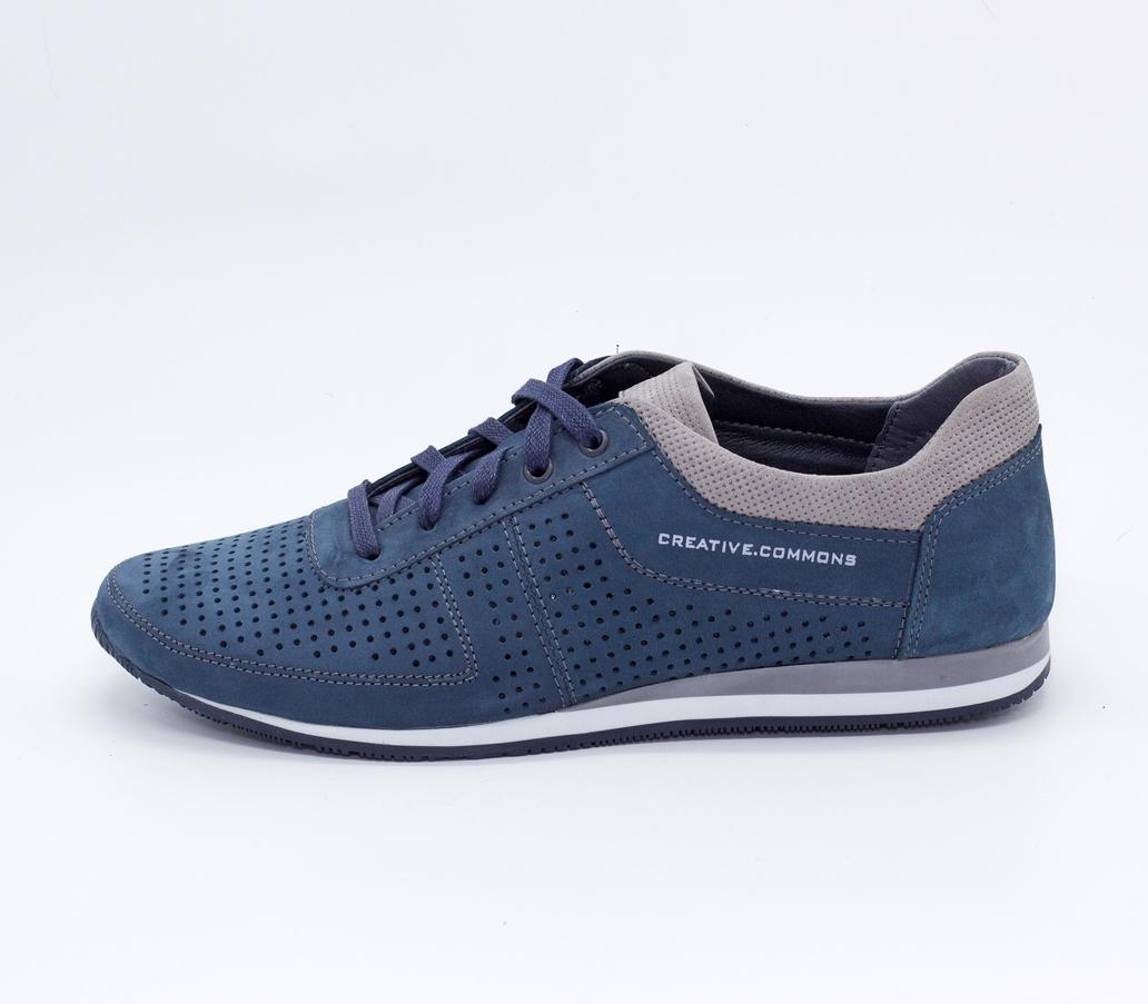 Синие кроссовки из натурального нубука