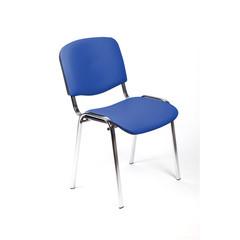 Стул офисный Изо синий (искусственная кожа/хром)