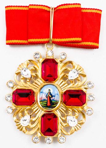 Орден св. Анны старого образца со стразами (копия)