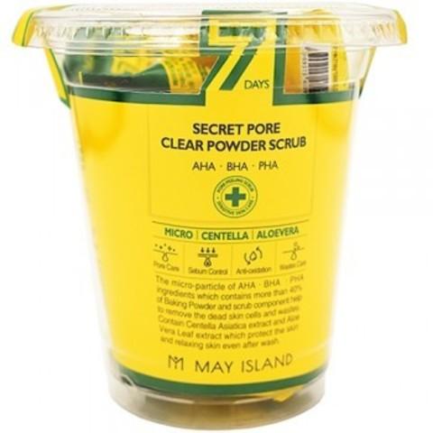 Набор скрабов для лица Secret pore clear powder scrub 12шт*5гр