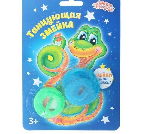 068-6568 Танцующая змейка, большая и малая, (набор 2 шт), цвета зеленый и голубой
