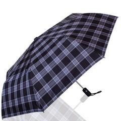 Зонт мужской в клетку ТРИ СЛОНА 907-10