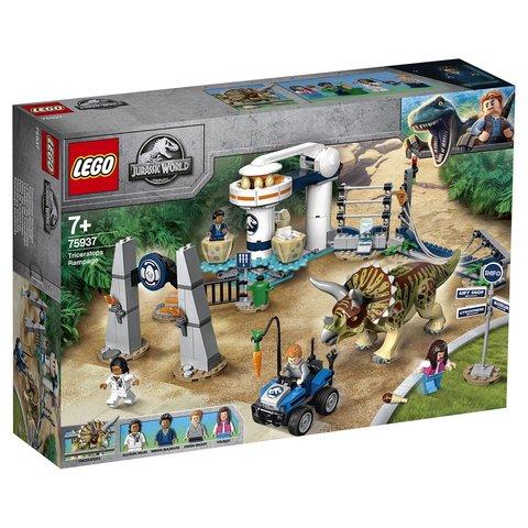 LEGO Jurassic World: Нападение трицератопса 75937 — Triceratops Rampage — Лего Мир Юрского периода