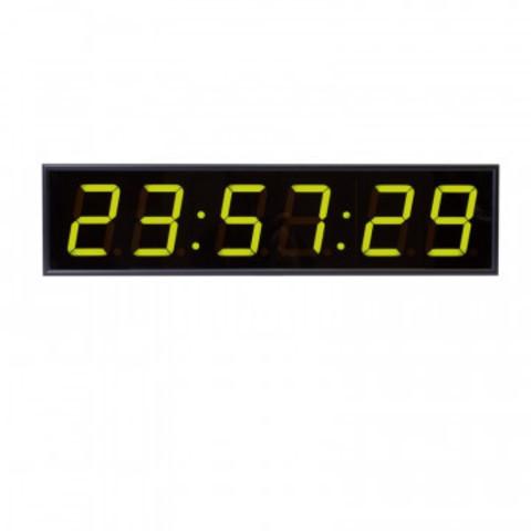 Часы электронные 410-EURO-HMS-G, цвет свечения зеленый 0.3КД, 650x160x75мм