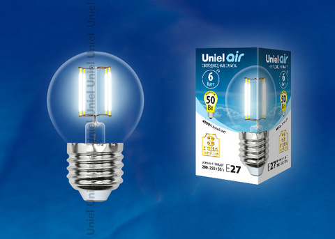 LED-G45-6W/NW/E27/CL GLA01TR Лампа светодиодная. Форма