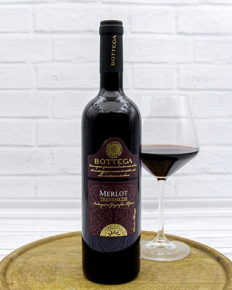 Вино Красное Сухое Bottega Мерло Тре Венецие 12,5%, 0,75 л.
