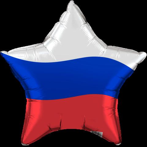 Звезда Российский флаг