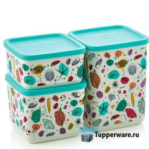 Набор контейнеров Кубикс Рио 650мл, 1л, 1,8л
