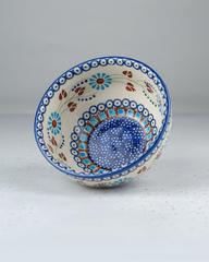 Керамическая миска с пряничным узором, 13х6 см, Польша