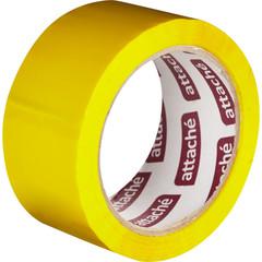 Скотч клейкая лента упаковочная Attache желтая 48 мм x 66 м толщина 45 мкм